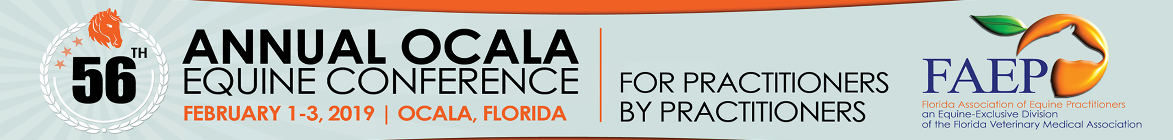 56th Annual FAEP Ocala Equine Conference 2019 Main banner