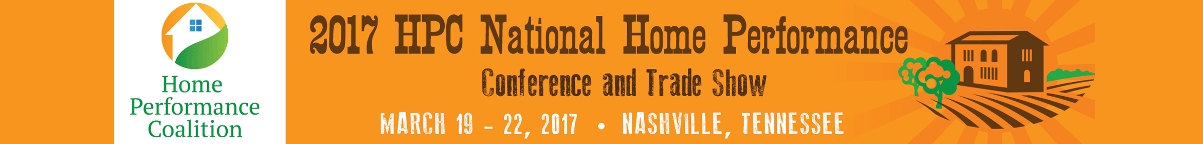 2017 HPC National Home Performance Conference  Main banner