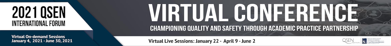 2021 QSEN International Forum Main banner