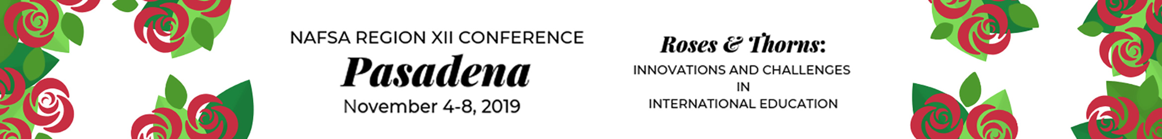 2019 NAFSA Region XII Conference Main banner
