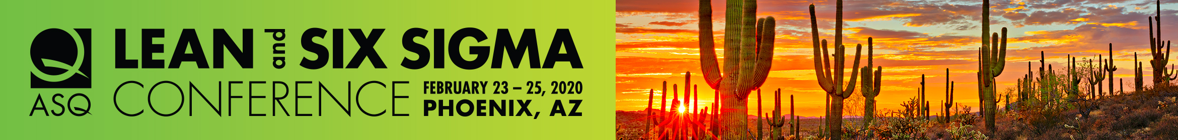 2020 Lean and Six Sigma Main banner