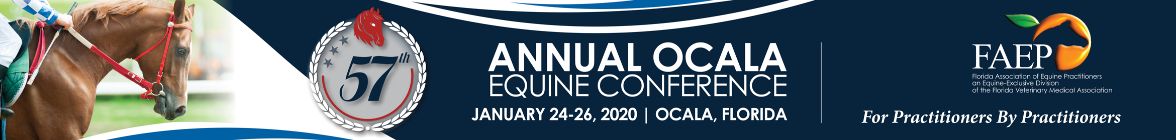 57th Annual FAEP Ocala Equine Conference 2020 Main banner