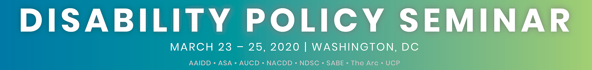 2020 Disability Policy Seminar Main banner
