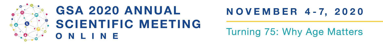 2020 GSA Annual Scientific Meeting Online Main banner