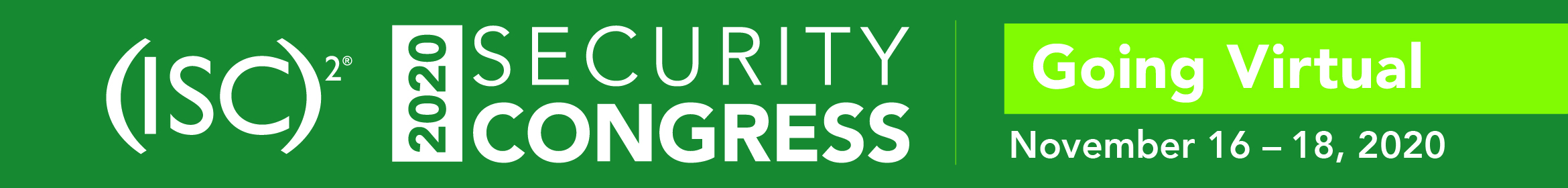 2020 (ISC)2 Virtual Security Congress Main banner
