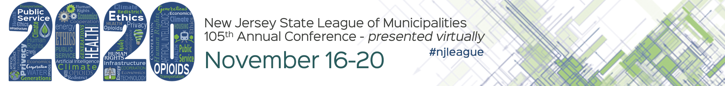 NJ State League of Municipalities Annual Conference Main banner