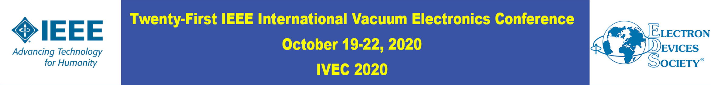 2020 IEEE International Vacuum Electronics Conference (IVEC) Main banner