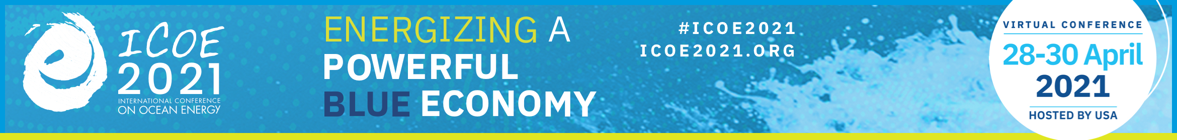 ICOE 2021 - International Conference on Ocean Energy Main banner