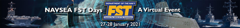 NAVSEA FST Days - A Virtual Event Main banner