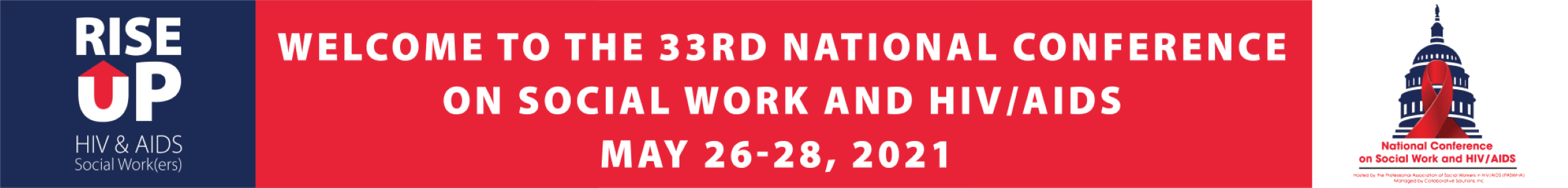 2021 National Conference on Social Work & HIV/AIDS Main banner