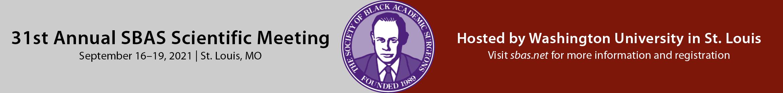 31st SBAS Annual Meeting Main banner