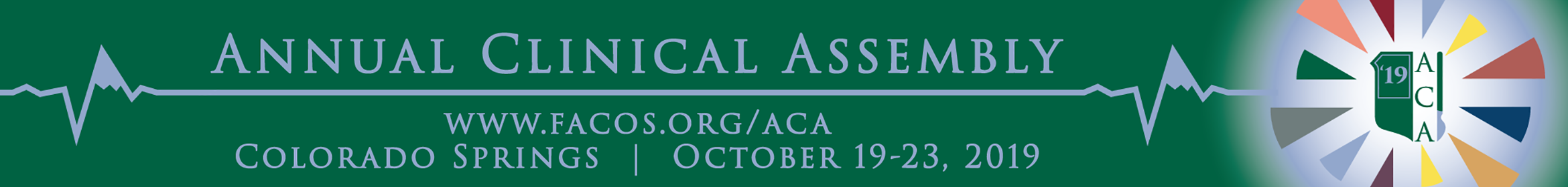 2019 Annual Clinical Assembly of Osteopathic Surgeons Main banner