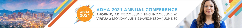 ADHA 2021 Virtual Conference Main banner
