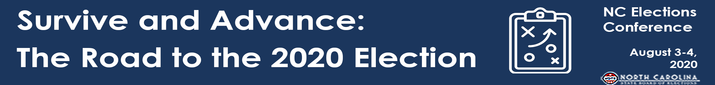 NC Board of Elections 2020 State Conference  Main banner