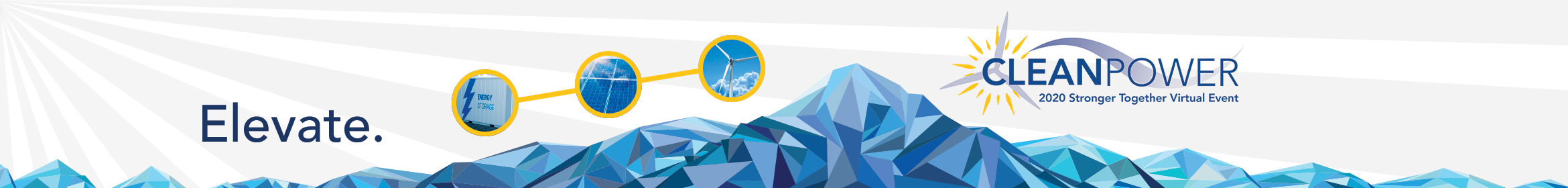 STRONGER TOGETHER VIRTUAL EVENT: CLEANPOWER Live 2020 Main banner