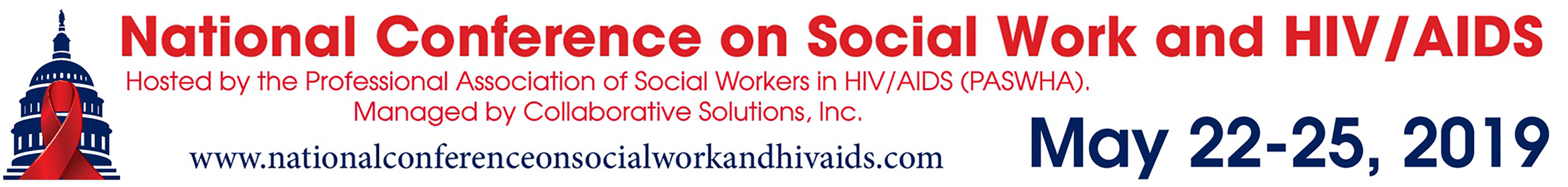 2019 National Conference on Social Work & HIV/AIDS Main banner