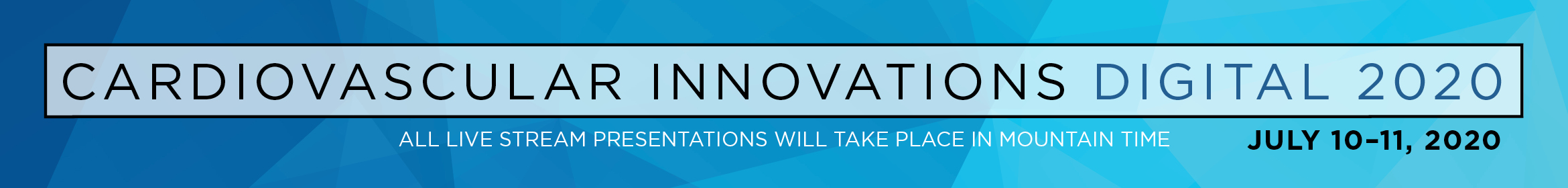 Cardiovascular Innovations 2020 Main banner