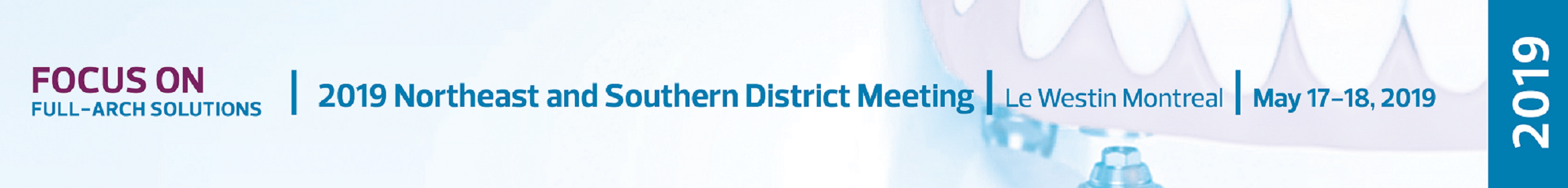 2019 Northeast District Meeting Main banner