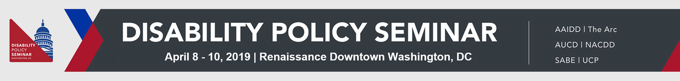 2019 Disability Policy Seminar Main banner
