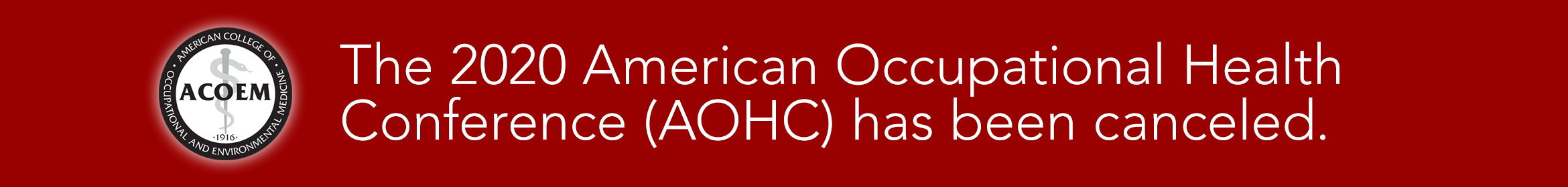 AOHC 2020 Main banner