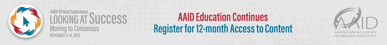 AAID 2020 Virtual Experience Main banner