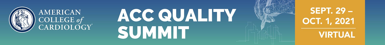 2021 ACC Quality Summit Main banner