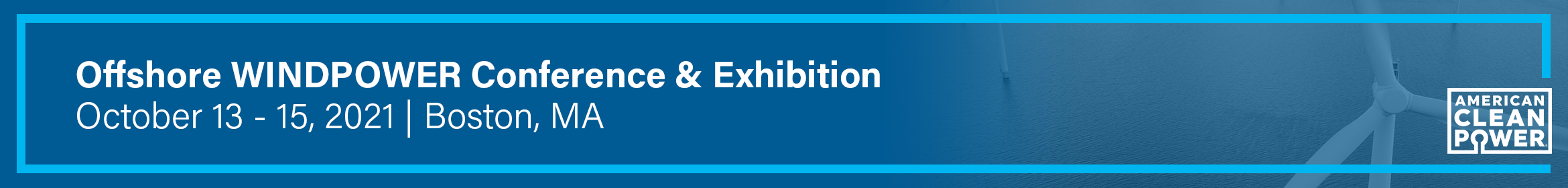 Offshore WINDPOWER Conference & Exhibition 2021 Main banner