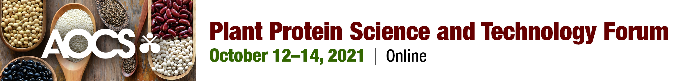 2021 AOCS Plant Protein Science & Technology Forum Main banner