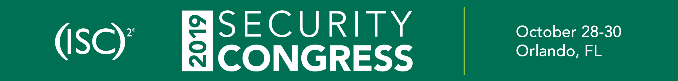 (ISC)² 2019 Security Congress Main banner