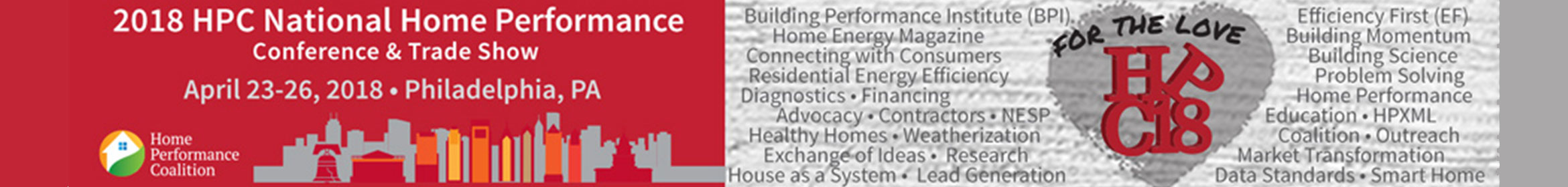 2018 HPC National Home Performance Conference Main banner