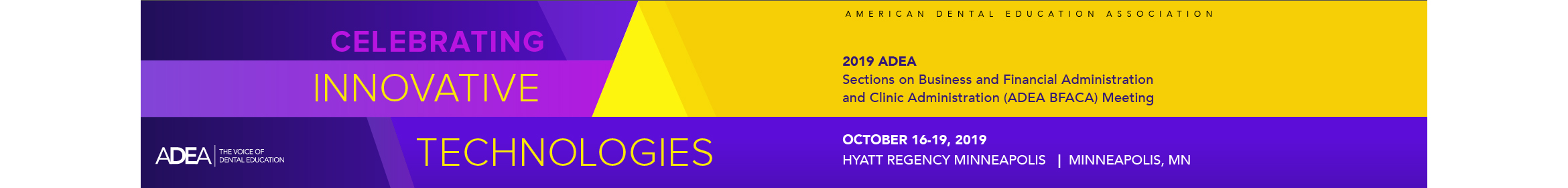 2019 ADEA BFACA Meeting Main banner