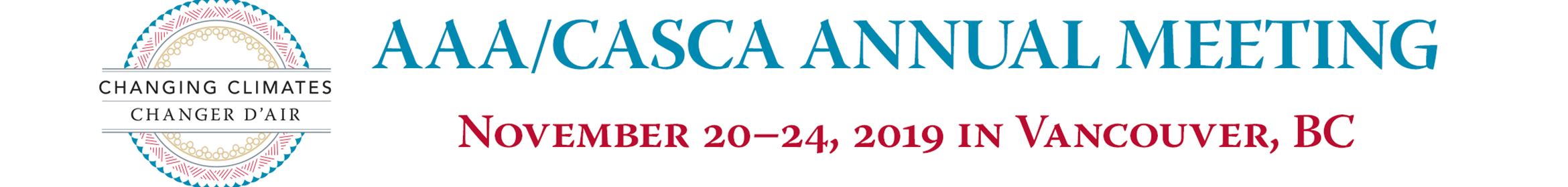2019 AAA/CASCA Annual Meeting Main banner