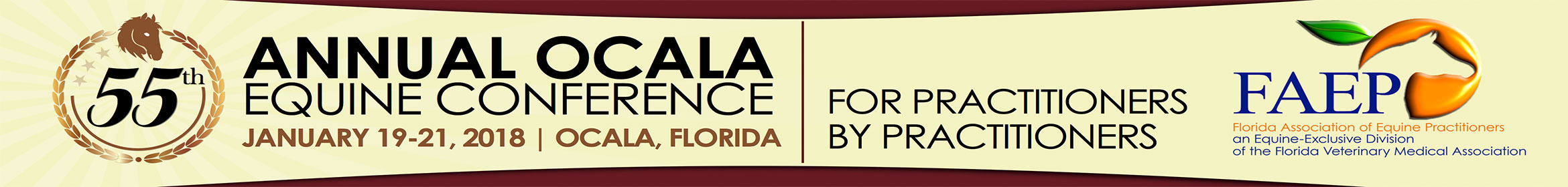 2018 55th Annual FAEP Ocala Equine Conference Main banner