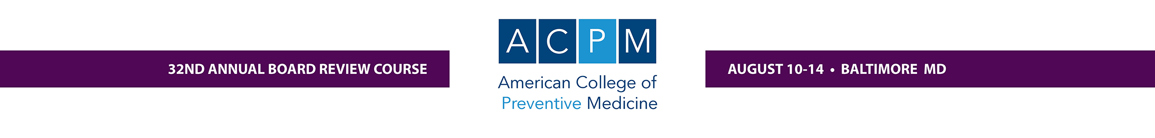 ACPM Board Review Course 2019 Main banner