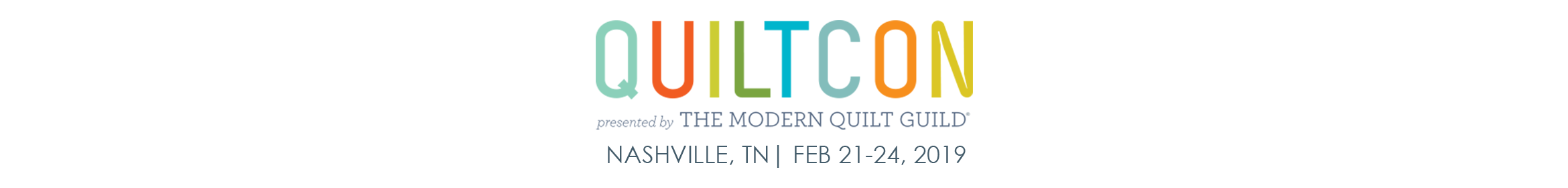 QuiltCon 2019 Main banner