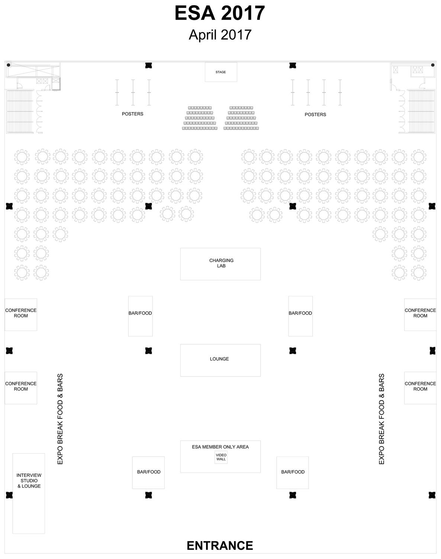 ESA Exhibitor Floor Plan