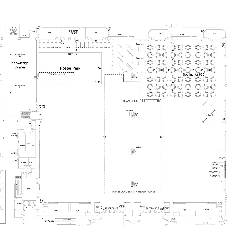 ACVIM Exhibitor Floor Plan